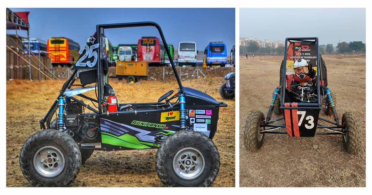 "Team ""Durgayans"" (design & construction of all-terrain vehicles) under BAJA SAE"